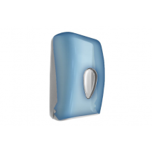 Диспенсер для туалетной бумаги Nofer 05118.T синий прозрачный