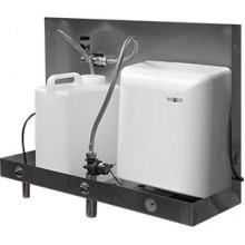 Встраиваемый блок со смесителем, дозатором мыла и сушкой для рук и зеркалом Nofer 12054.FMS