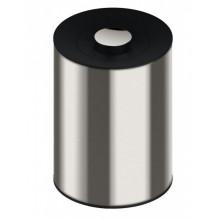 Ведро для мусора Keuco Plan 04989 010037 хром/черно-серый