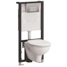 Подвесной унитаз с инсталляцией комплект Vitra Arkitekt 9005B003-7211
