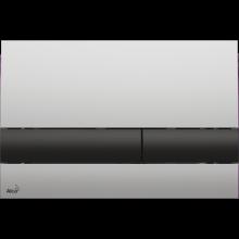 Клавиша смыва AlcaPlast Basic M1712-8, хром - черная/матовая