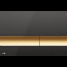 Клавиша смыва AlcaPlast Basic M1728-5, черный/золото