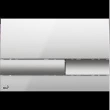 Клавиша смыва AlcaPlast Basic M1743, хром - глянцевая/матовая
