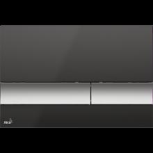 Клавиша смыва AlcaPlast Basic M1728-2, черный/хром-матовая