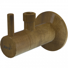 Угловой вентиль Alcaplast ARV001-ANTIC круглый, с фильтром