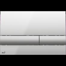 Клавиша смыва AlcaPlast Basic M1713, хром - глянцевая/матовая