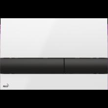Клавиша смыва AlcaPlast Basic M1710-8, белый/черный