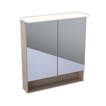 Шкаф-зеркало Geberit (Keramag) Acanto 500.645.00.2 дуб Мистик / меламин, структура дерева