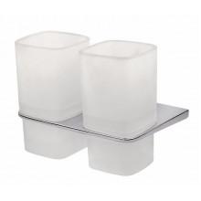 Двойной стеклянный стакан с настенным держателем AM.PM Inspire A50343464