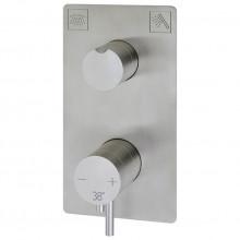 Cмеситель термостатический для ванны Cisal Xion нержавеющая сталь XI008104D1