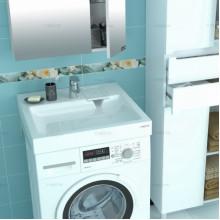 Раковина над стиральной машиной Санта Лидер 60*8*50 900102 с кронштейнами