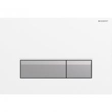 Клавиша смыва Geberit Sigma 40 115.600.KQ.1 со встроенной сист. удаления запаха, пластик, белый металл