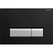 Клавиша смыва Geberit Sigma 40 115.600.KR.1 со встроенной сист. удаления запаха, металл, чёрный пластик