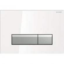Клавиша смыва Geberit Sigma 40 115.600.SI.1 со встроенной системой удаления запаха, металл, цвет белый