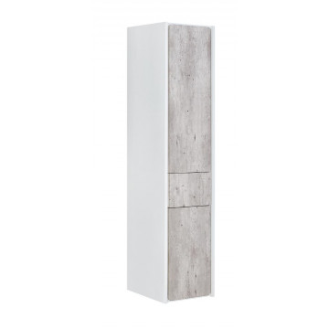 Шкаф-колонна Roca Ronda ZRU9303005 левый, бетон/белый глянец