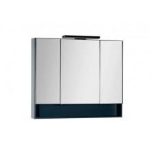 Зеркало-шкаф Aquanet Виго 100 сине-серый 183359