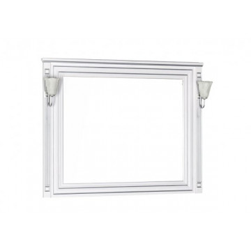 Зеркало Aquanet Паола 120 белый/серебро 181768