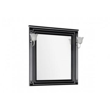 Зеркало Aquanet Паола 90 черный/серебро 181766