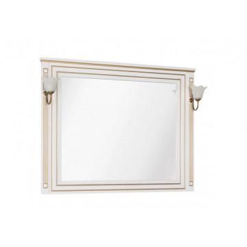 Зеркало Aquanet Паола 120 белый/золото 186105