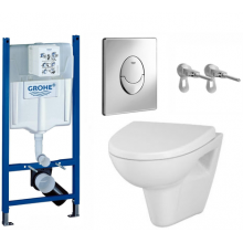 Подвесной унитаз с инсталляцией комплект Grohe 5 в 1 Parva New Clean On 39222000
