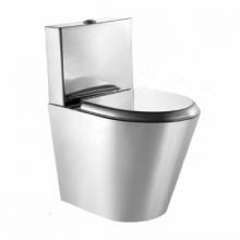 Унитаз напольный MOEFF с водяным баком и металлическим сиденьем MF-9111WS / MF-222