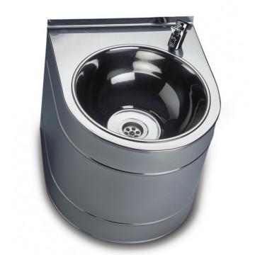 Фонтан питьевой Sanela, подвесной, с нажимной арматурой, 330х380х300 мм  с питанием от батарейки 9 В