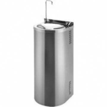 Фонтан питьевой, напольный,Sanela  с нажимной арматурой и с наполнителем стаканов, 350х360х800 мм SLUN 43S