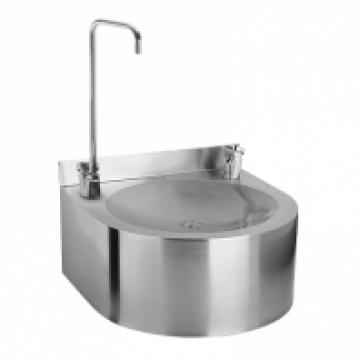Фонтан питьевой Sanela подвесной, с нажимной арматурой, глянцевая поверхность, 350х350х155 мм SLUN 62S