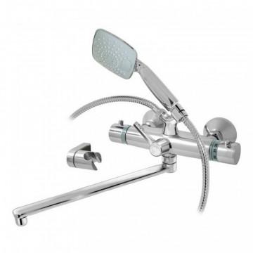 Смеситель ВАРИОН Каскад (арт.1025875) термостат. для ванны излив 200мм. с аксесс