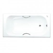 Чугунная ванна Maroni Colombo 1500x750 с хромированными ручками