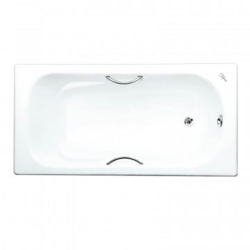 Чугунная ванна Maroni Colombo 1700x800 с хромированными ручками