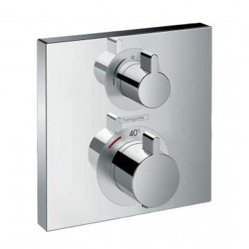 Термостат с запорным/переключающим вентилем Hansgrohe Ecostat Square 15714000 внешняя часть