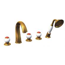Смеситель на борт ванны Радомир Бурже золото 1-27-3-0-0-622