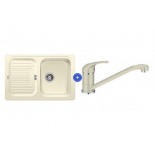 Комплект мойка Blanco Classic 45 S и смеситель Blanco Daras Silgranit, жасмин 521311D2