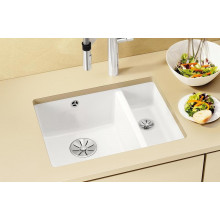 Кухонная мойка Blanco Subline 350/150-U Ceramic, белый