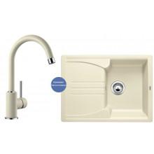 Комплект мойка Blanco Enos 40 S и смеситель Blanco Mida Silgranit, жасмин 514230M2