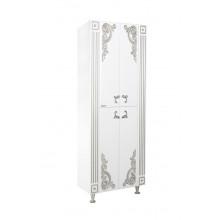 Пенал Bellezza Венеция 60 Люкс, напольный, цвет - белый патина серебро, 65*180*34 см