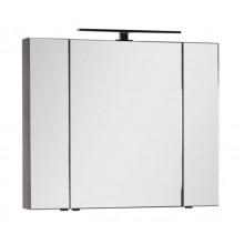 Зеркало-шкаф Aquanet Эвора 100 дуб антик 182998