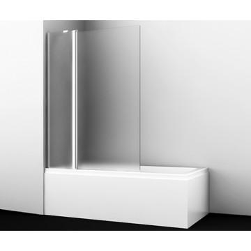 Стеклянная шторка для душа WasserKRAFT Berkel 48P02-110L Matt glass Fixed распашная, двухстворчатая
