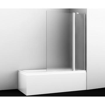 Стеклянная шторка для душа WasserKRAFT Berkel 48P02-110R Matt glass Fixed распашная, двухстворчатая