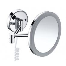 K-1004 Зеркало WasserKRAFT с LED-подсветкой, 3-х кратным увеличением