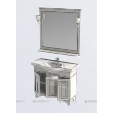 Комплект мебели Aquanet Валенса 100 белый краколет/золото 182921