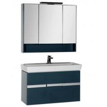 Комплект мебели Aquanet Виго 100 сине-серый 183666