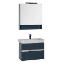 Комплект мебели Aquanet Виго 80 сине-серый 183673