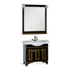 Комплект мебели Aquanet Валенса 100 черный краколет/золото 180454