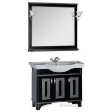 Комплект мебели Aquanet Валенса 100 черный краколет/серебро 180455