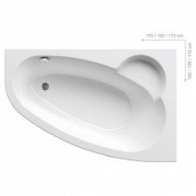 Акриловая ванна Ravak Asymmetric 160x105 без гидромассажа, правая C471000000