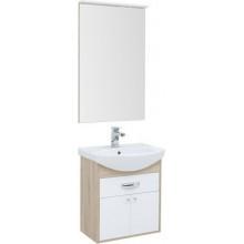 Комплект мебели Aquanet Грейс 60 дуб сонома/белый 198802