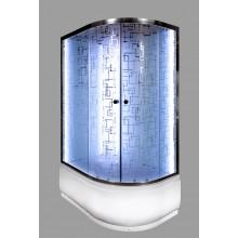 Душевая кабина Deto ЕМ 4512 L N с LED-подсветкой и гидромассажем