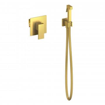Смеситель встроенный с гигиеническим душем Timo Selene 2089/17SM золото матовое